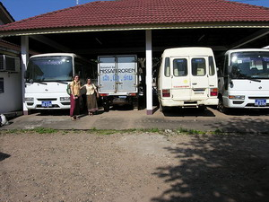 Bookmobiles, National Library, Vientiane, Laos